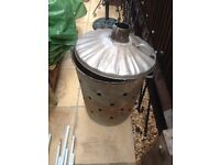 Metal garden incinerator for the garden