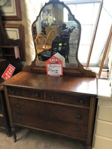 CLEARING OUT SEVERAL SOLID WOOD ANTIQUE CABINETS & DRESSERS