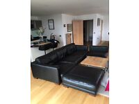 Black Leather Sofa - Great Condition!