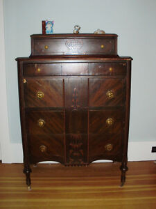 Antiques - various pieces and prices.
