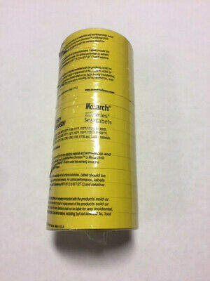 Genuine Monarch 1110 Yellow Labels Free Ink Roller