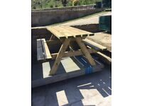 Picnic table wooden 40mm thick timber