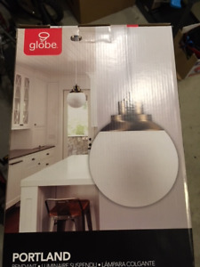 Brand New Globe Hanging Pendant Light x2 Portland