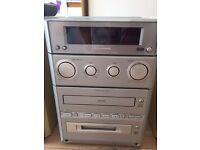 Panasonic stero system CD/Radio/mini disk/tape