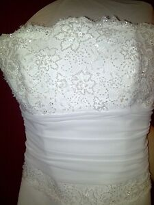 Alfred Sung Wedding Dress Size 10