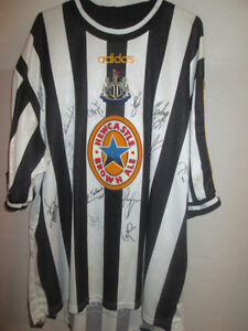 Newcastle-United-1998-00-Match-Worn-squad-Signed-Home-Football-Shirt-COA-21962