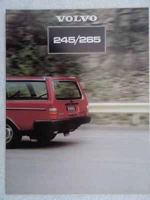 Volvo 245/265 Estates UK Sales brochure 1981 - DL, GL and GLE models.
