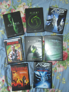 8 DVD Pack Alien & Predator Movies Total Destruction Collection