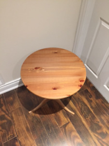 Used IKEA Dalom wooden round side table - $30