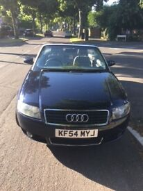 Audi A4 Convertible Diesel Blue in good condition. See description