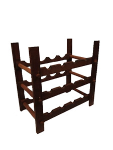 Hand Crafted Wooden Wine Rack for Sale (Holds 12 bottles)