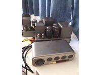 Quad II valve amplifiers, control unit Quad 22 with FM1 tuner, AM tuner and decoder