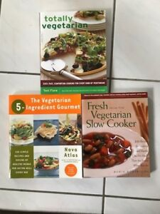 Set of 3 Vegetarian Cook Books - New