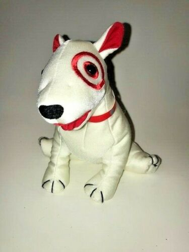 Target Dog Plush Bean Bag Dog Stuffed Toy Bullseye - Very Rare