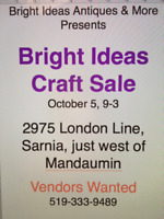 Craft Sale & Vendors Wanted