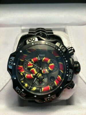 Invicta Reserve Venom Cobra 30310 Mens Watch SWISS Quartz Chrono 52mm MINT Cond