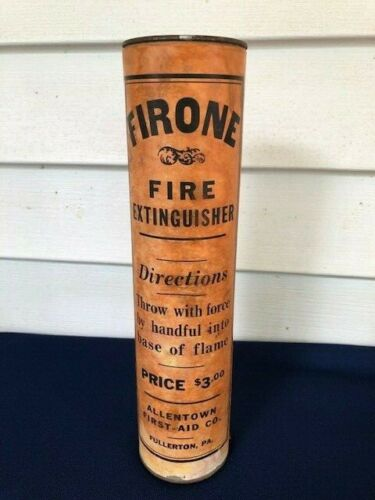 Antique Firone Fire Extinguisher Firefighting Fullerton Pa