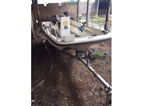13' Dory Boat with suzuki engine and BRAND NEW trailer