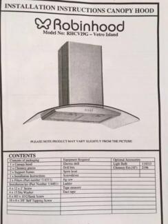 Robinhood Rangehood Stainless never used was $1000 new