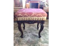 Chas Wadman antique piano stool