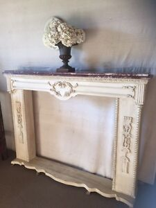 French Antique Style Marble Top Faux Fireplace Richmond Hawkesbury Area Preview