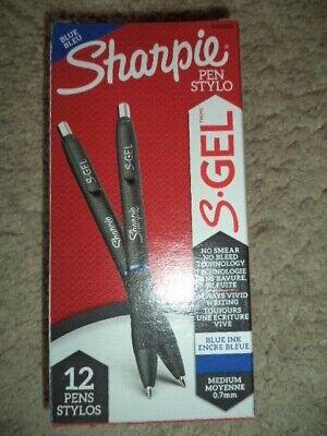 Sharpie 12 S-gel Gel Pens Medium Point 0.7mm Blue Ink 2096152
