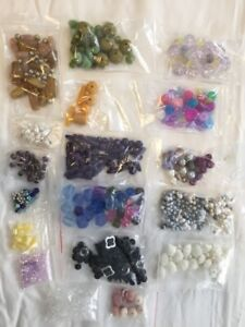 Acrylic bead lot for jewelry or crafting
