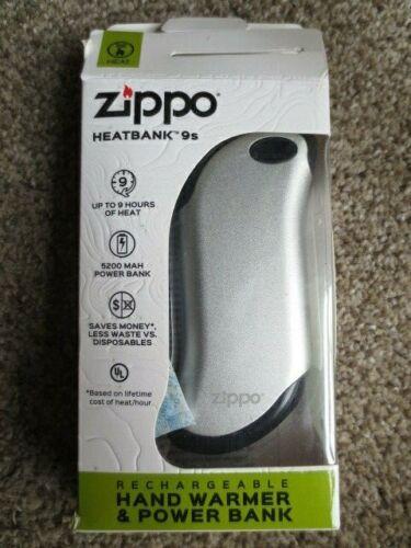 Zippo SILVER Heatbank 9s Rechargeable Hand Warmer and Power Bank