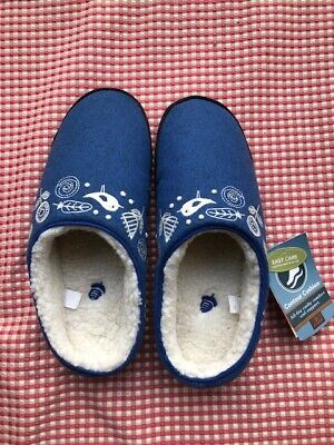 Acorn Women's Talara Mule Heather Blue Slipper 6.5-7.5