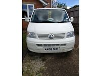 WHITE VOLKSWAGON VW CAMPER VAN 2008 GOOD CONDITION ROCK & ROLL BED LEATHER REMAPPED ELEC WIND MUST C