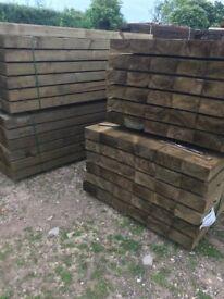 new pine or oak sleepers