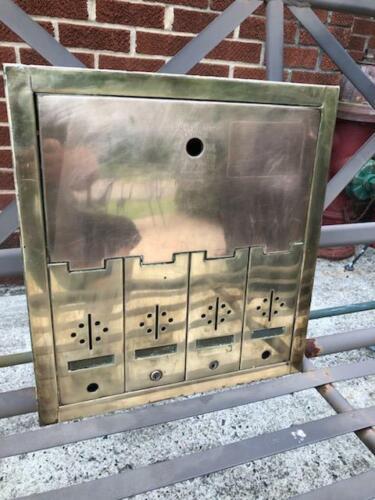 US Mailbox Apartment Building antique group mail slots