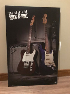 Fender Guitar poster, laminated