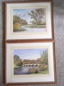 Paintings ( 1 pair of pastel paintings)