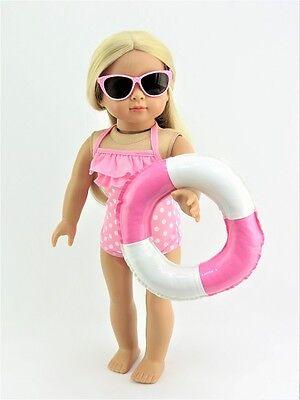 Pink and White Swim Ring/Inner Tube Fits 18
