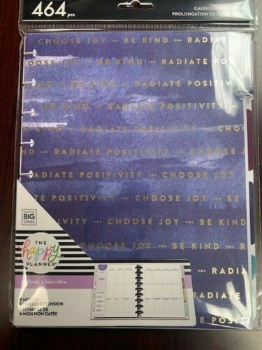 The Happy Planner Wellness Undated Calendar Extension 464 Pieces