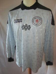 Scotland-Schools-FA-Match-Worn-Goalkeeper-1987-Football-Shirt-with-COA-9674