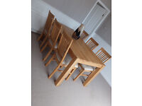 Barker and Stonehouse Hannover Oiled Oak Dining Table and 6 chairs