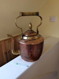 VICTORIAN COPPER AND BRASS KETTLE
