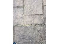 patio slabs in 4 different sizes