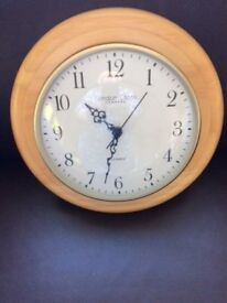 Pine wall mounted clock London clock company