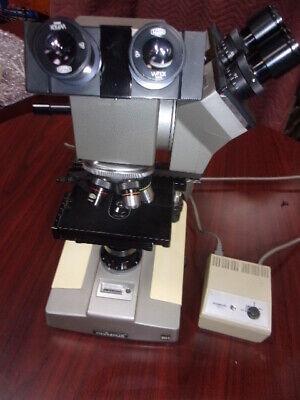 Olympus Bha Bh Microscope -dual Head- 2-light Source-