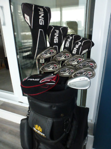 Superbe ensemble golf complet Ping K15 et Ping Glide, taylormade