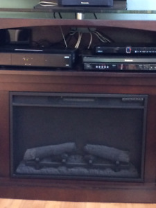 PEACE RIVER: Entertainment Unit with Electric Fireplace