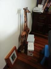 African Art wood giraffe Willetton Canning Area Preview