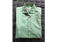 Incotex Glanshirt - Slim-fit Green Shirt EU 38