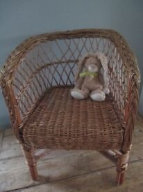 Lovely Vintage Rattan Childs Chair