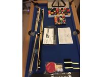 BCE 5Ft Rolling/Lay Flat Folding Pool Table With Accessories