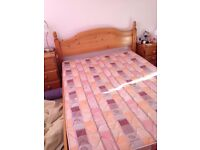 Double bedframe, chest of draws and 2 bedside table £90.00