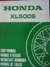 HONDA XL500S MOTORCYCLE WORKSHOP SERVICE MANUAL c1979 Dianella Stirling Area Preview